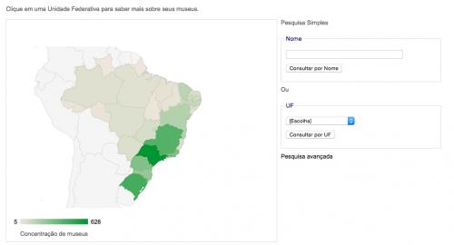 Mapa de Museus no Brasil