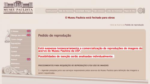 Museu do Ipiranga fechado e sem acesso ao acervo.