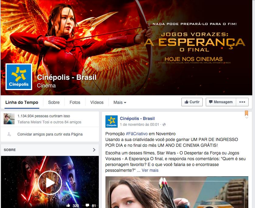cinepolis brasil e a compra de likes