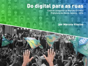 "Marketing político digital: capa do e-book ""Do digital para as ruas"""