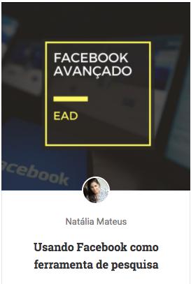 curso facebook avançado