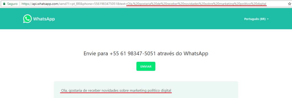 Link para abrir whatsapp