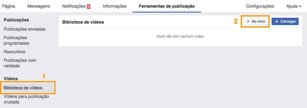 Biblioteca vídeo facebook