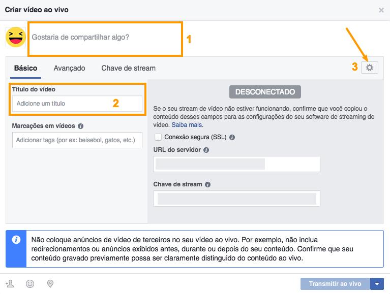 publicar no facebook