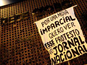 Cartaz de Protesto na Globo