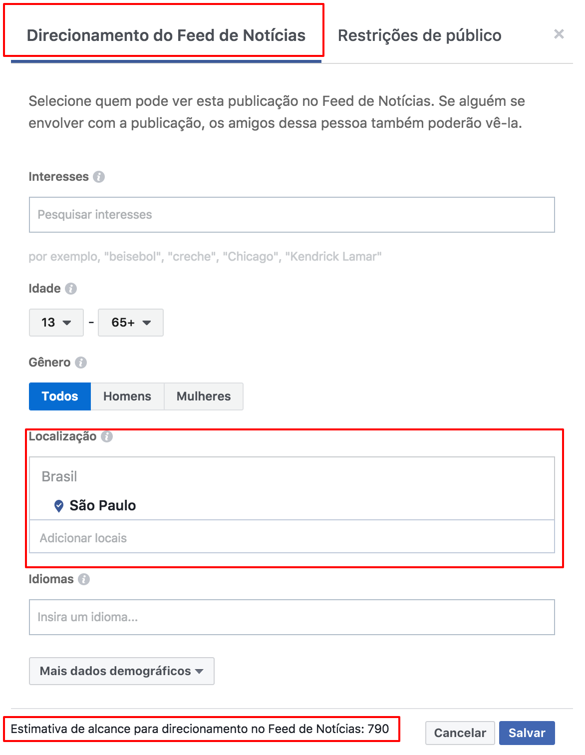 como segmentar posts organicos facebook