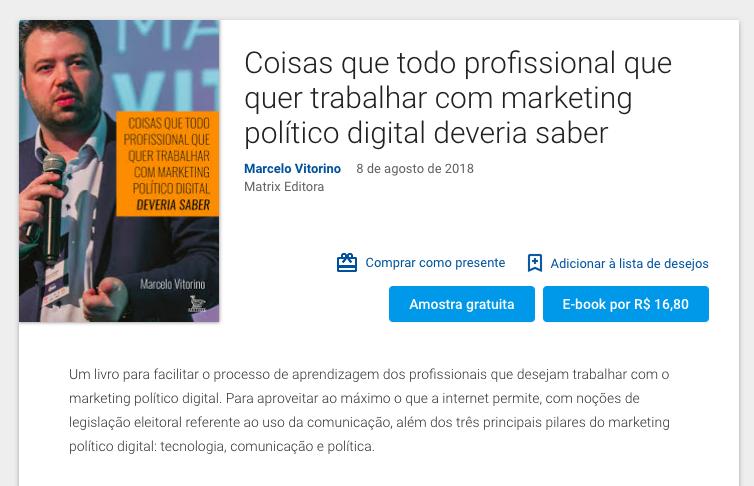 Novo livro de Marcelo Vitorino já está disponível na loja Google Play